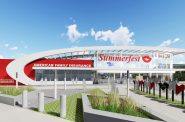 New Summerfest North Gate. Rendering by Eppstein Uhen Architects.
