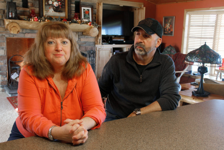 """Danita (Scharenbroch) Metko and her husband, Gene, are financing the latest DNA testing and appeal for Ken Hudson, her former boyfriend. """"I don't believe Ken did it,"""" Gene Metko said. """"It's a horrible tragedy to see him in there, and I'd like to see him out."""" (Dee J. Hall / Wisconsin Center for Investigative Journalism)"""
