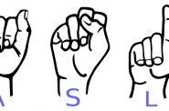American Sign Language (ASL). Photo is in the Public Domain.