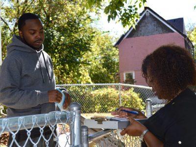 Black Officials Canvass Amani Neighborhood