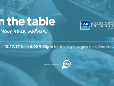 NEWaukee to Partner with Greater Milwaukee Foundation as Mega Table Host For On the Table