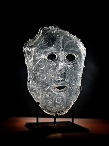 "AGAMEMNON, Sand Cast Glass with Steel Base, 24x15x12"" by Jeremy Popelka."