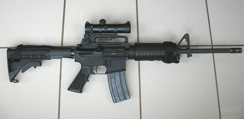 Colt AR-15 A3 Tactical Carbine. Photo is in the Public Domain.