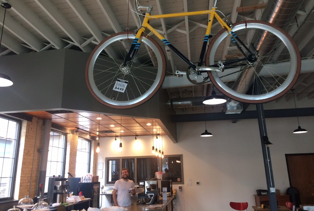 Velobahn Coffee & Cycle. Photo courtesy of Layton Boulevard West Neighbors.
