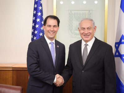 Governor Walker Meets with Israeli Prime Minister Benjamin Netanyahu