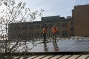 Solar panels being installed at 1545 S. Layton Blvd. Photo courtesy of Arch Electric Inc.