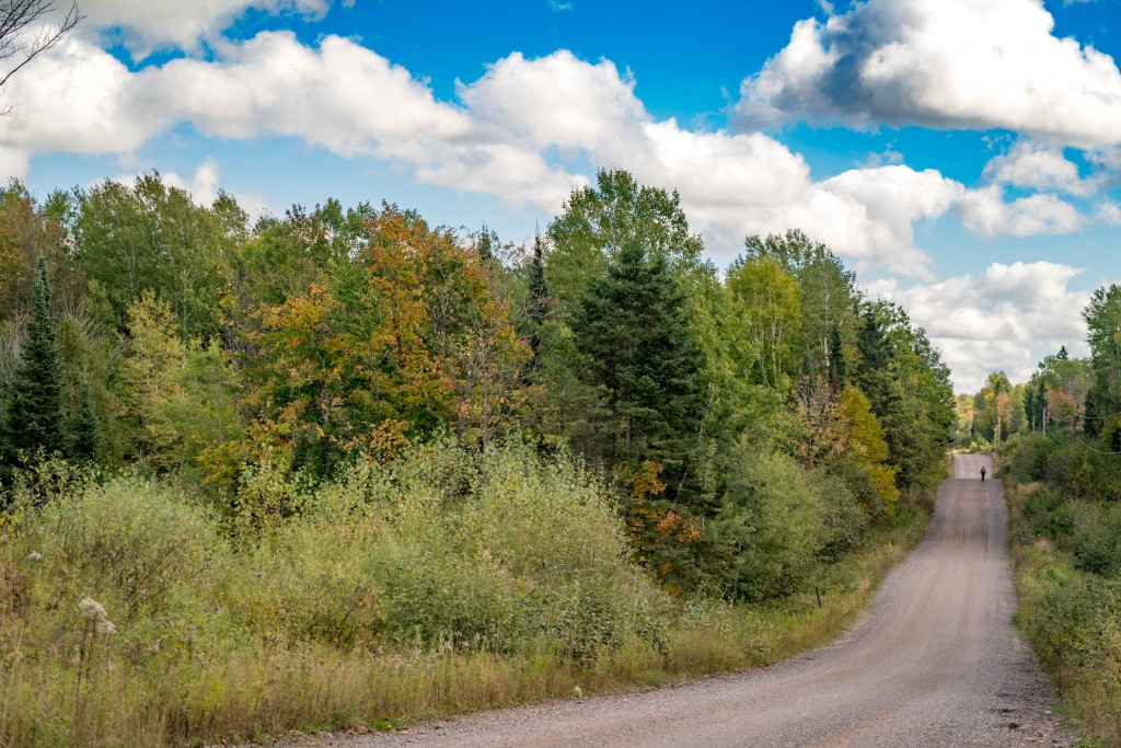 Miles and miles of empty, rolling gravel roads await you just north of Park Falls.