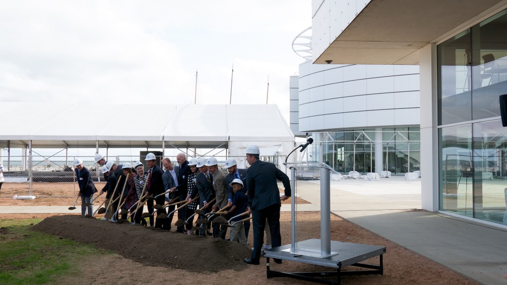 Groundbreaking for Discovery World expansion. Photo by Graham Kilmer.