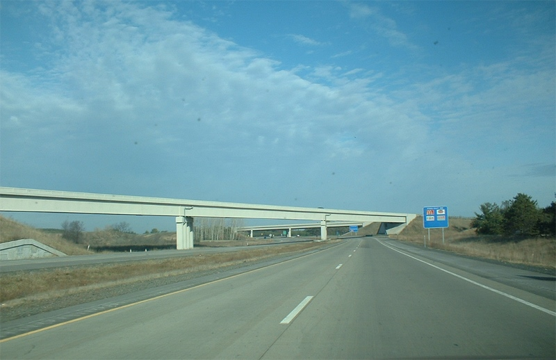 WIS 29 East interchange with Interstate 39 and U.S. Route 51. Photo is in the Public Domain.