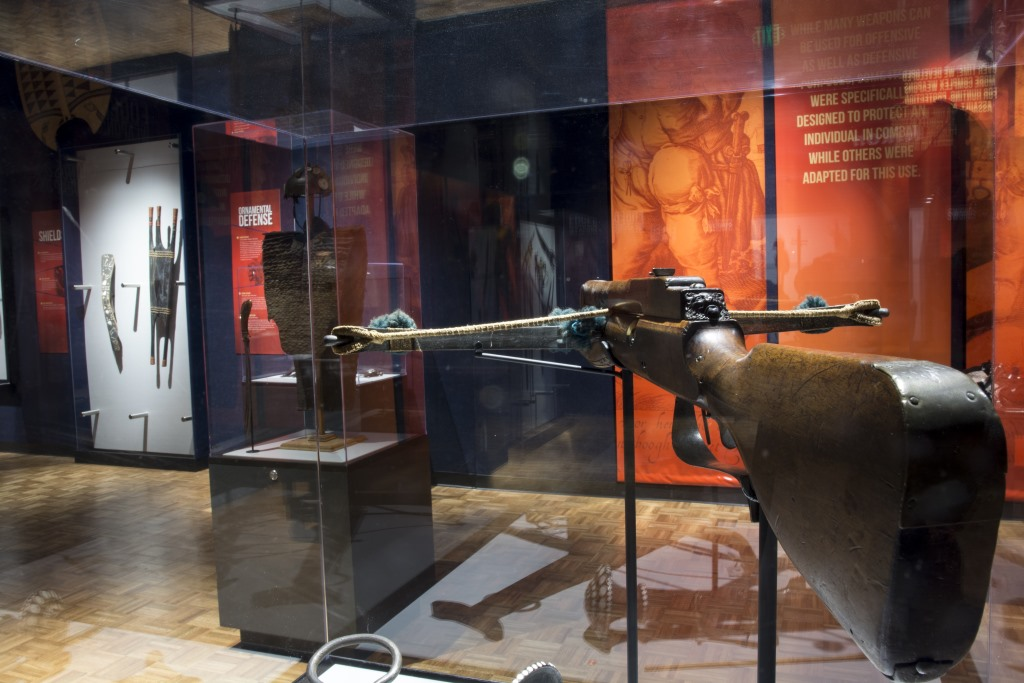 This German 17th-century crossbow belonged to someone from a noble or wealthy family who used it to hunt. Photo by Matthew Wooten/Milwaukee Public Museum.