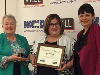 Representative Lisa Subeck Receives Women Legislators' Lobby Pacesetter Award