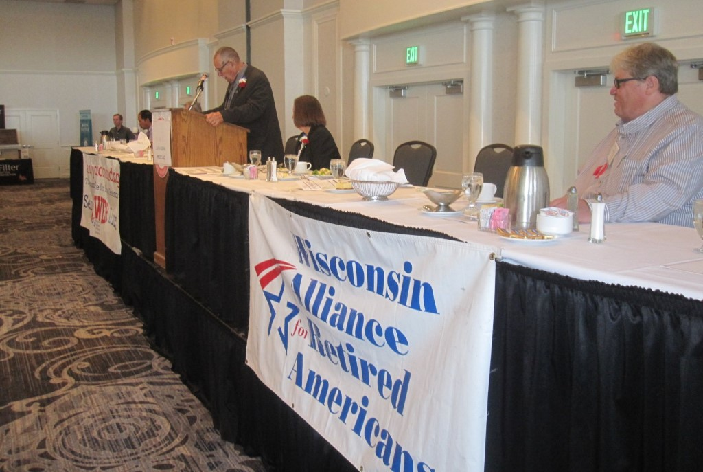 Wisconsin Alliance for Retired Americans forum. Photo by Michael Horne.