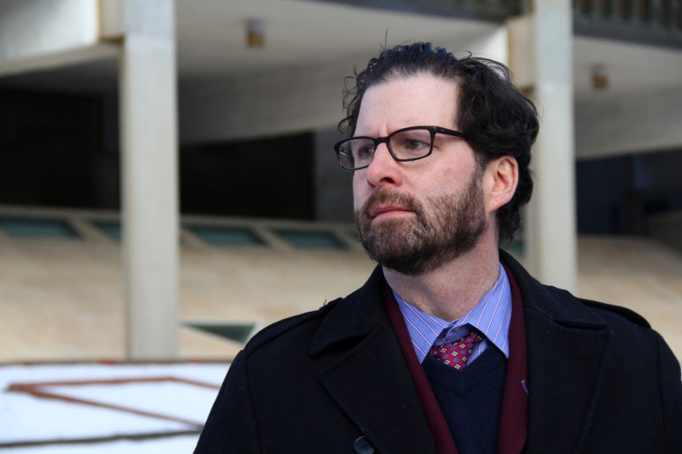 Peter J. Fox is a Milwaukee attorney who specializes in employment law, including representing whistleblowers who allege retaliation under Wisconsin's whistleblower law. Photo by Alexandra Hall / WPR/Wisconsin Center for Investigative Journalism.