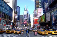 Times Square in New York City. Photo by Sam valadi.