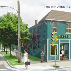 This rendering shows how the Kindred building will look after it is redeveloped. Photo courtesy of Melissa Goins.