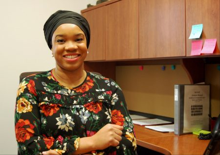 Sumaiyah Clark was hired to manage the ReCAST program in July. Photo by Andrea Waxman.