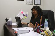 Pamela Davis, director of programs, works to help men become better fathers. Photo by Leah Harris.