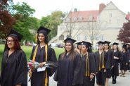 Students graduate from Mount Mary University in the spring. The Dash Emergency Grant program was expanded to Mount Mary and three other four-year colleges this school year. Photo by Andrea Waxman.