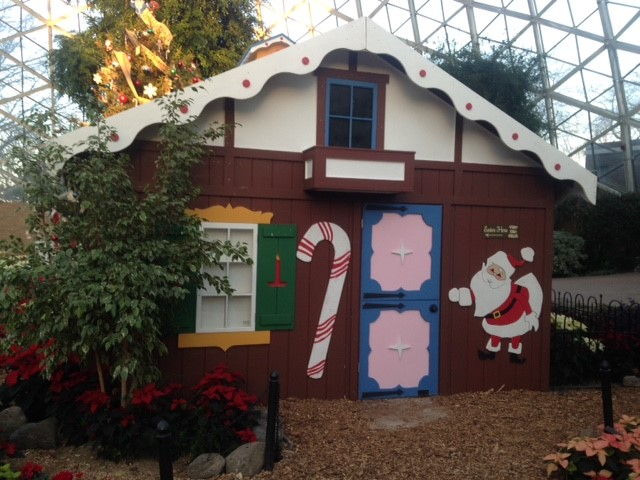 The  Kooky Cooky House, Milwaukee's own gingerbread-making marvel of the '60s and '70s, has been recreated and will open Saturday as part of the holiday floral show at The Domes. Photo courtesy of Milwaukee County Parks.