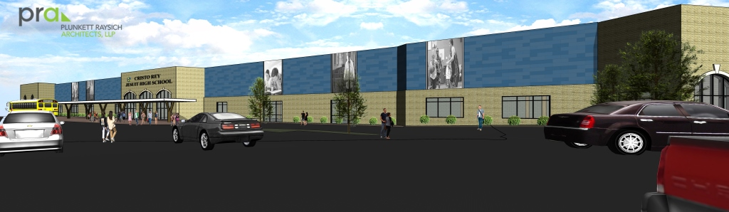 Rendering of new Cristo Rey Jesuit High School location. Rendering by PRA.