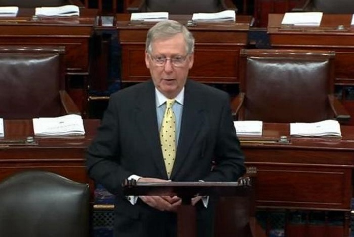 Republican U.S. Senate Majority Leader Mitch McConnell. Photo from the U.S. Senate.