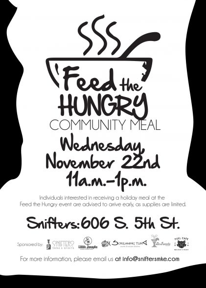 Snifters Tapas and Spirits to Host First Annual Feed the Hungry Community Meal