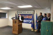 Ald. Tony Zielinski announces he's running for Mayor. Photo by Jeramey Jannene.