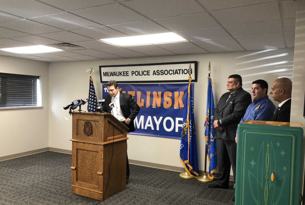 In November 2017, Ald. Tony Zielinski announced he was running for Mayor. Photo by Jeramey Jannene.