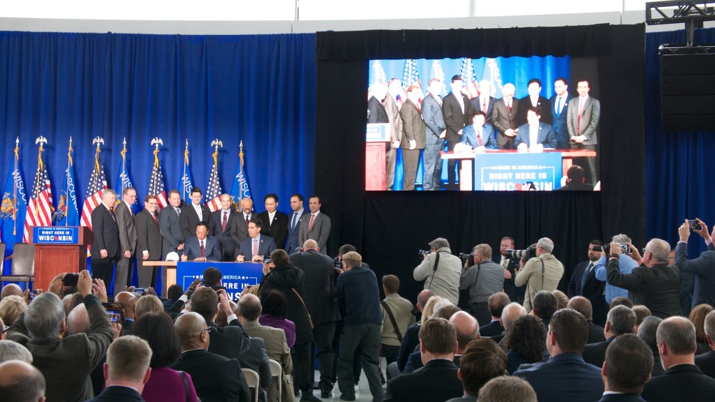 Foxconn signing. File photo by Graham Kilmer.