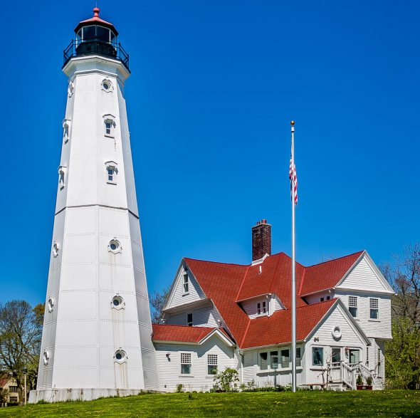 North Point Lighthouse, 2650 N. Wahl Ave. Photo by Dave Fidlin.