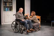 """James Pickering and Tami Workentin in """"The Secret Mask."""" Photo by Ross Zentner."""
