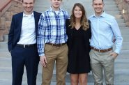 Blake Hartman, Matt Melinyshyn, Mia Sienko, and Michael Ulrich. Photo courtesy of Marquette University.