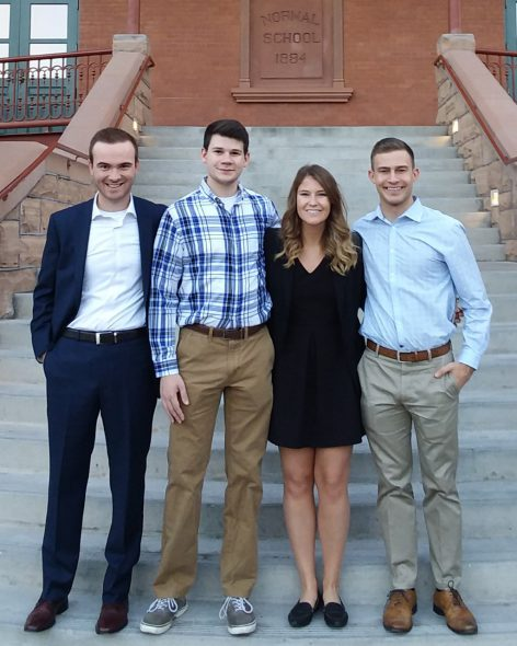 Blake Hartman, Matt Melinyshyn, Mia Sienko, and Michael Ulrich. Photo courtesy of Marquette University.