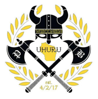 "Wisconsin's Proud Boy chapter logo features the group's ""Uhuru"" greeting, which means freedom in Swahili. The word is taken from a video in which an activist calls for whites to make slavery reparations to African-Americans. Photo from https://www.facebook.com/Proud-Boys-Wisconsin-227778521060978/"