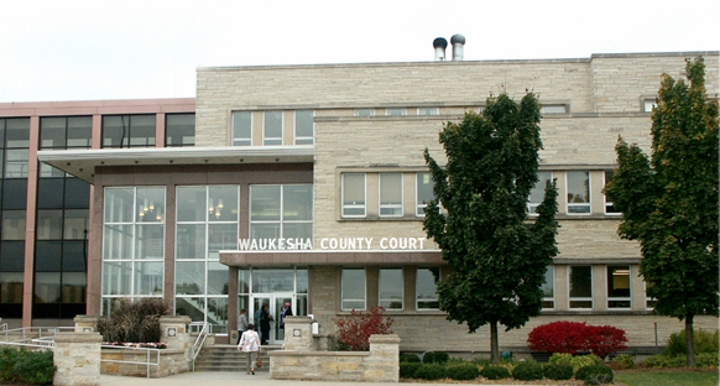 Courthouse of Waukesha County, Wisconsin. Photo is in the Public Domain.