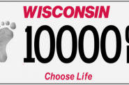 "The ""Choose Life Wisconsin"" specialty license plate"