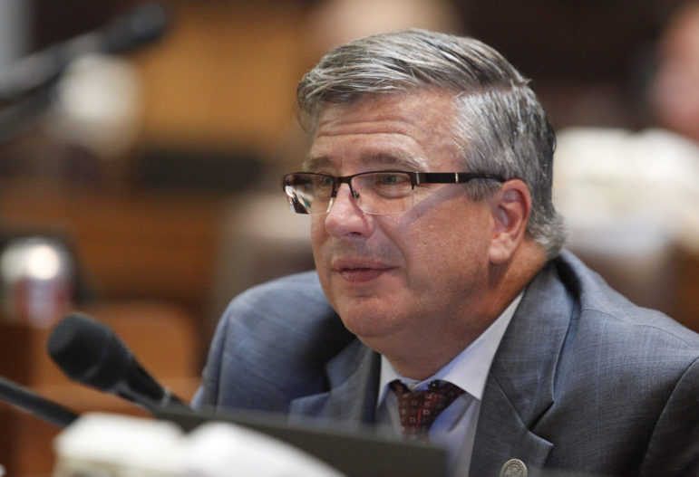 Rep. John Nygren, R-Marinette, as co-chairman of the Legislature's Joint Finance Committee, helped to repeal the state's False Claims Act as part of the 2015-17 state budget. He is seen here in the Assembly Chambers at the Capitol, in Madison, Wis., Sept. 24, 2015. Photo by Michelle Stocker / The Cap Times.