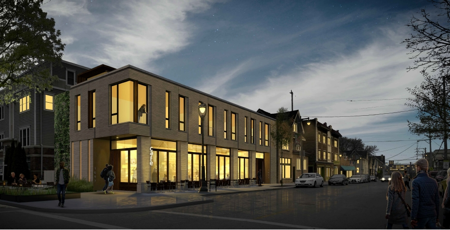 1697 N. Marshall St. Proposal. Rendering by Johnsen Schmaling Architects.