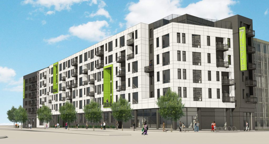 Park 7 Lofts Updated Rendering. Rendering by Engberg Anderson Architects.