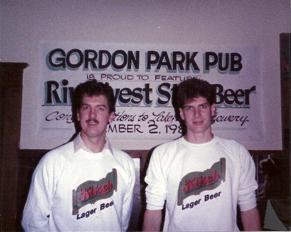 Jim and Russ Klisch at the Gordon Park Pub. Photo courtesy of Lakefront Brewery.