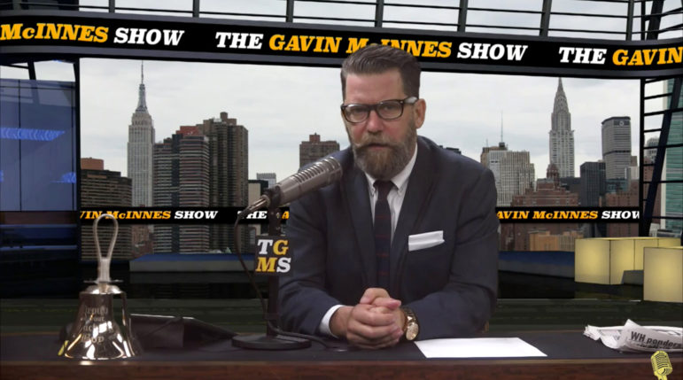 Several Proud Boys members say they joined the group after watching founder Gavin McInnes on his online talk show. Photo from compoundmedia.com/show/the-gavin-mcinnes-show/