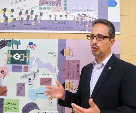 Ian Bautista, Clarke Square Initiative executive director, says Cristo Rey's move is good for the neighborhood. Photo by Raina J. Johnson.