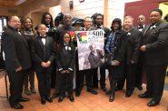 Andre Lee Ellis and 500 Black Tuxedos Participants. Photo by Jeramey Jannene.