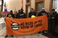 """No Nazis in the house of labor."" Photo by Jeramey Jannene."