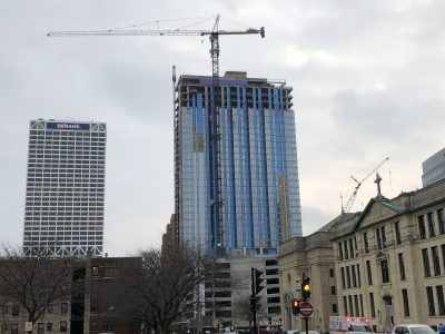 Friday Photos: Milwaukee's Tallest Apartment Building Tops Off