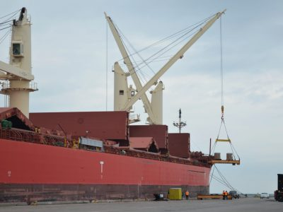 Photo Gallery: Port Unloads 5,000 Tons of Steel