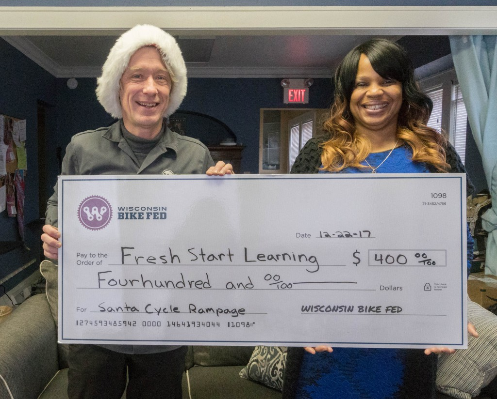 Me and Nancy Yarbrough at the Fresh Start Learning office at 43rd and North Avenue.
