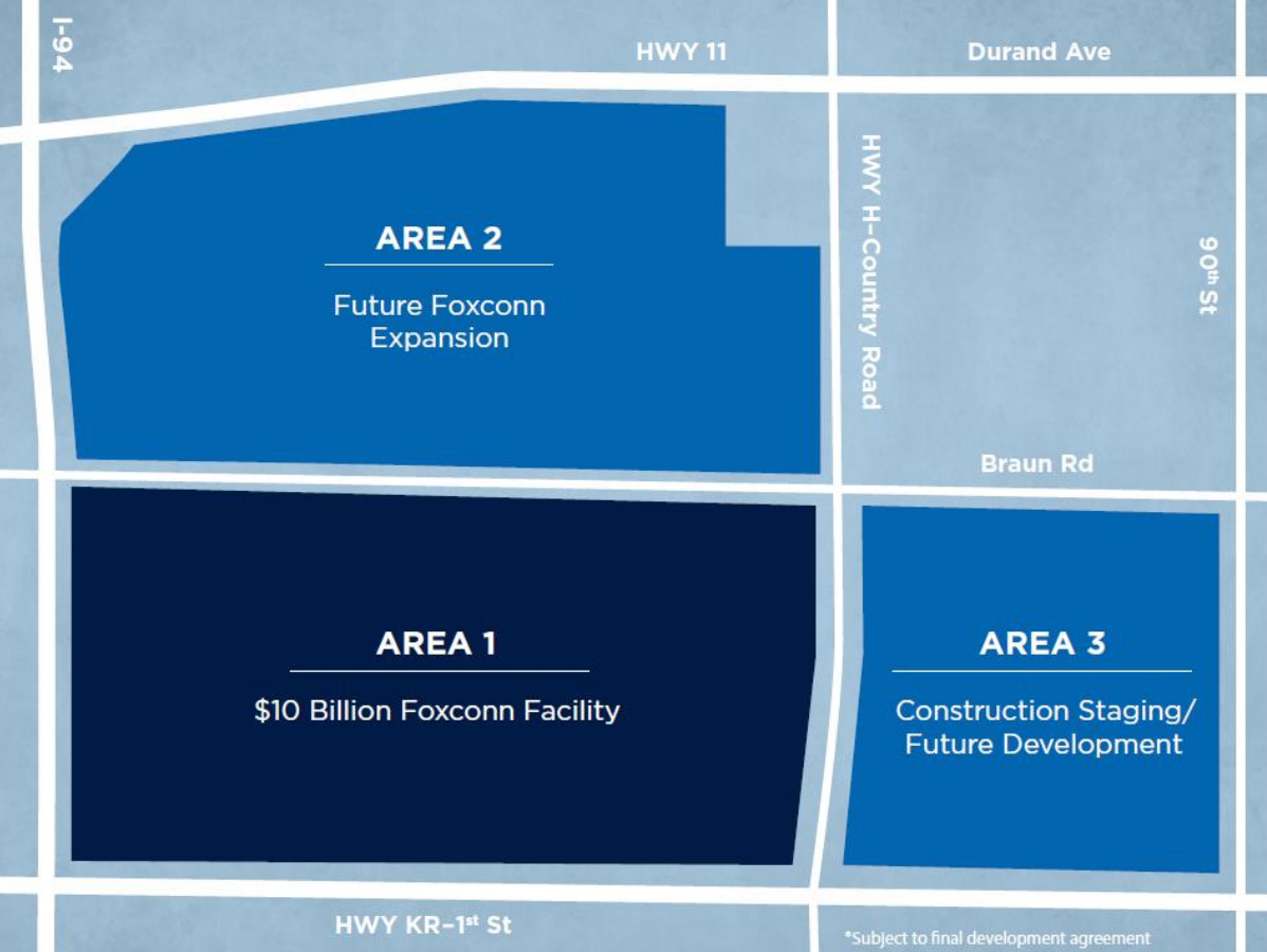 Foxconn Site Plan. Image from SEWRPC.