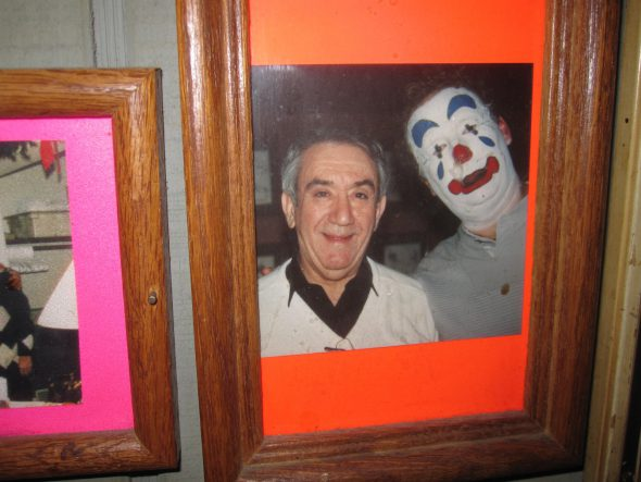 "Peter Picciurro and ""Happy, Happy"" the clown. Photo by Michael Horne."