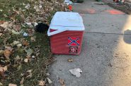 KKK and Confederate Flag Cooler. Photo by Sam Singleton-Freeman.
